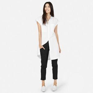 Everlane The Short - Sleeve Shirt Dress White